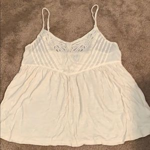 Layering tank w lace detail and adjustable straps
